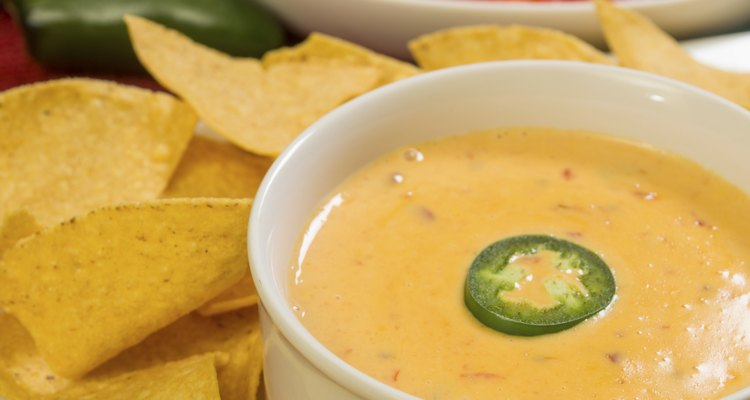 hot bowl of cheese dip