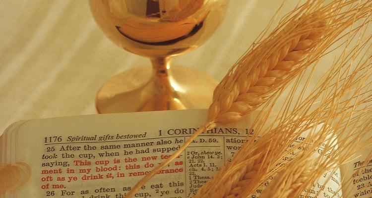 En las tradiciones protestantes, la comunión es símbolo del cuerp y la sangre de Jesús.