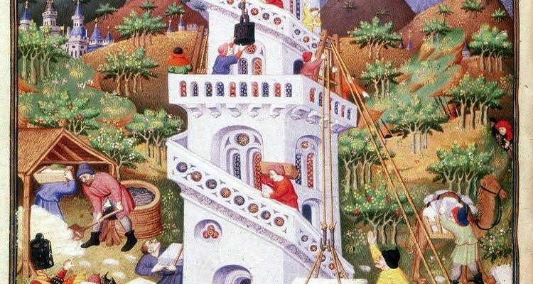 Generalmente, la Torre de Babel suele ilustrarse como una estructura con rampas que ascienden en forma de espiral.