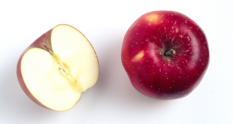 Apple and apple half
