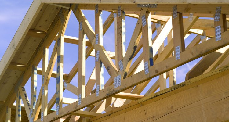 Joists and rafters are components used in roof construction.