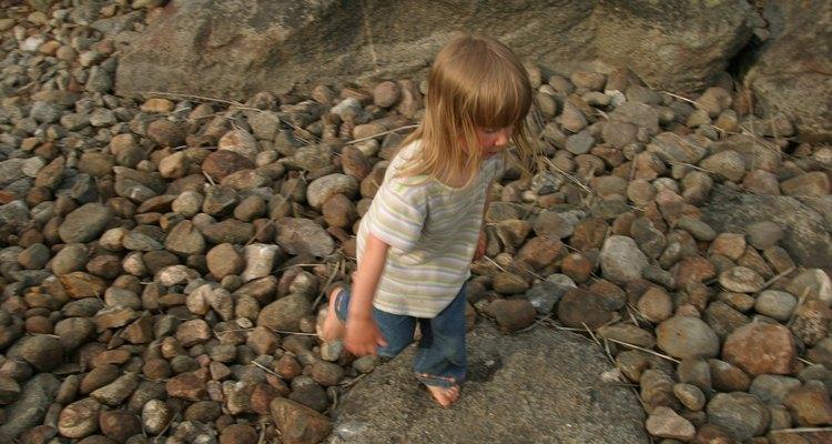 Pedras arredondadas deixam sua calçada atraente