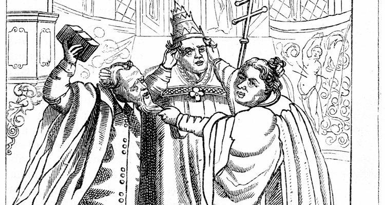 Los líderes religiosos, como Martín Lutero y el papa, estaban constantemente en conflicto entre sí.