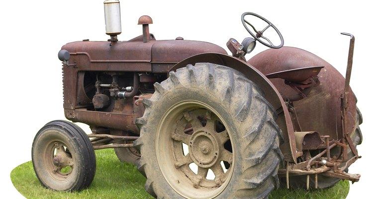 Older model tractors typically have voltage regulators that mount independent of the generator.