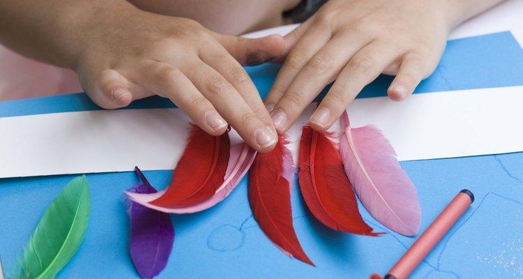 Use colourful feathers to make a Yanomami headdress.