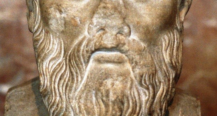Busto de Platão, filósofo e educador ateniense