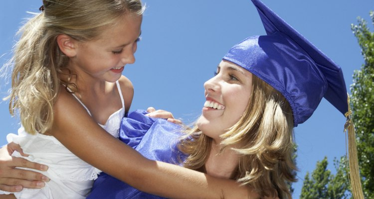Graduate Holding Daughter
