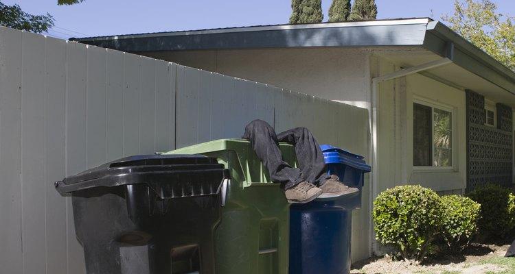 Asegura las tapas de cubos de basura y mantenlos lejos de la casa para prevenir gusanos.