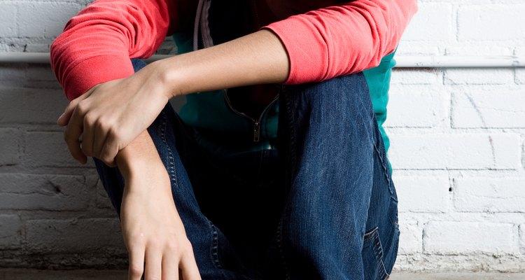 Un adolescente deprimido puede meditar en privado.