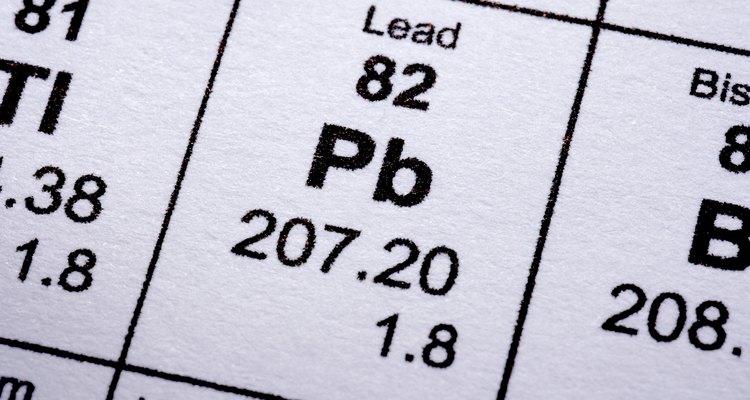 O chumbo apresenta uma das mais altas densidades entre os metais
