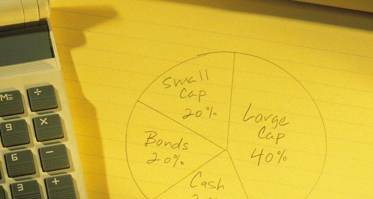 """Gráficos de """"pizza"""" representam porcentagens, mas os ângulos das seções do gráfico são medidos em graus"""