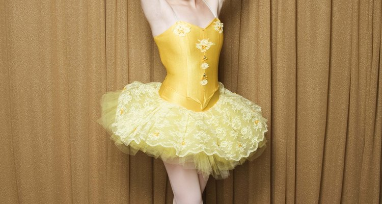 The shape of a ballerina's skirt is due to tulle fabric.