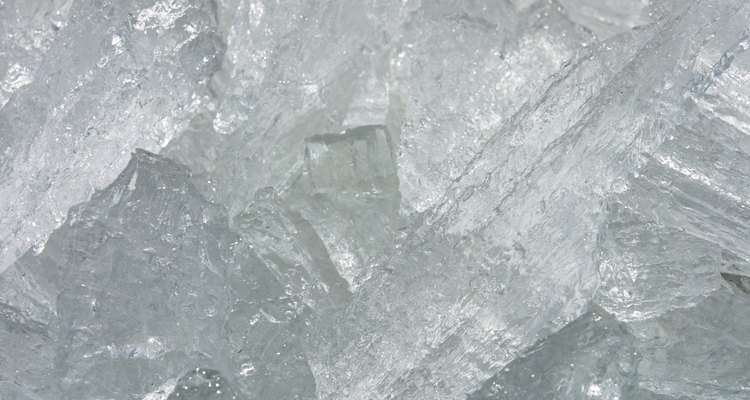 Ice cubes can be used to harden Blu-Tack as well as paint with fast-drying enamel.