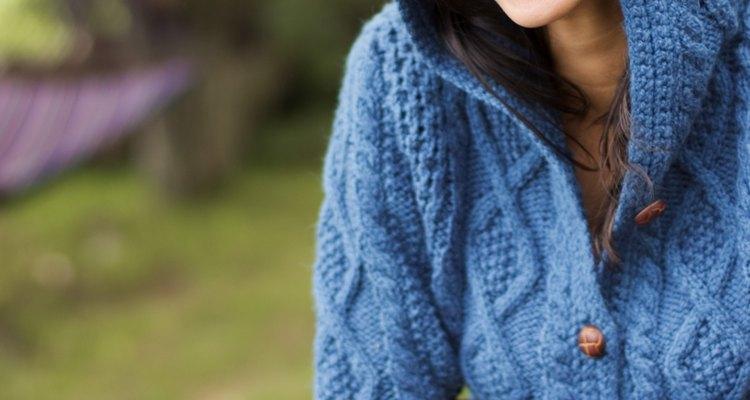 Woman wearing hooded sweater