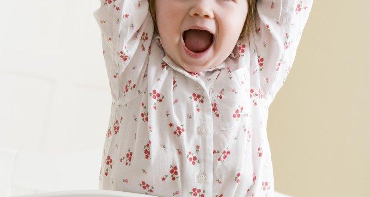 El grito de un niño puede significar que la está pasando bien.