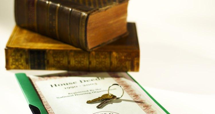 Em termos de imóveis, escrituras são as provas de propriedade