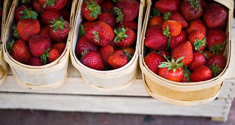 Deliciosas fresas maduras.