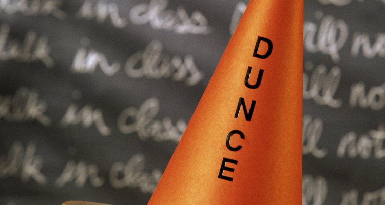 Dunce hats were a form of classroom punishment.