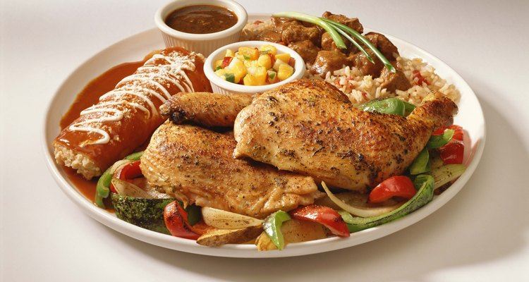 Add ingredients to pre-cooked chicken.