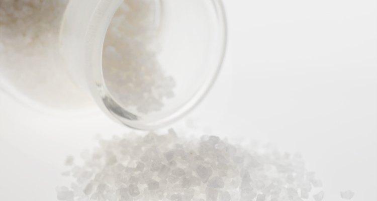 Bath salts spilling from jar