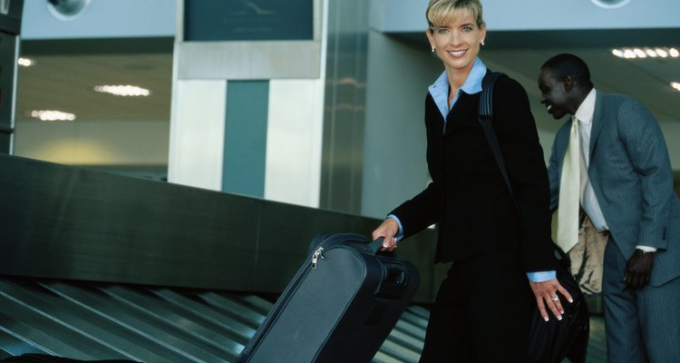 Replace her battered luggage with a new suitcase.