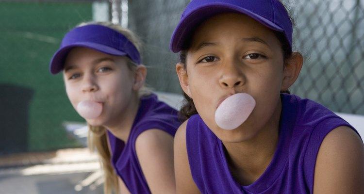 Crianças provavelmente poderão ficar chiclete em outro lugar que não seja a boca