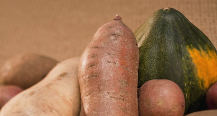 Potatoes are root vegetables.