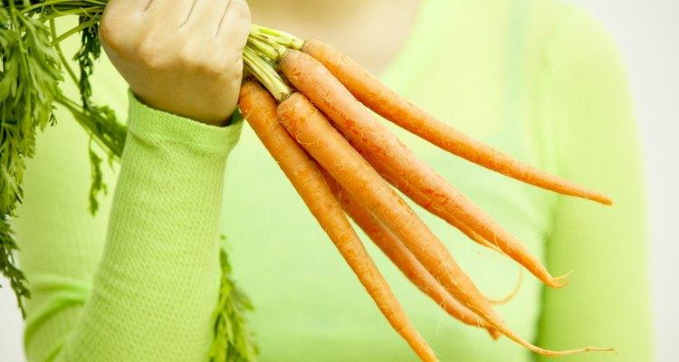 Use fresh, shredded carrots to dye fabric orange.