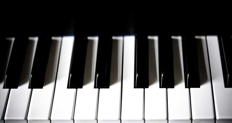 Keep piano keys white with regular cleaning.
