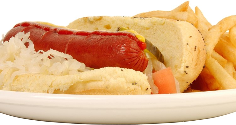 Sauerkraut is often served with hot dogs and sausage.