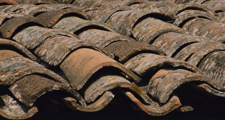 Roof tiles protect the building from the elements.