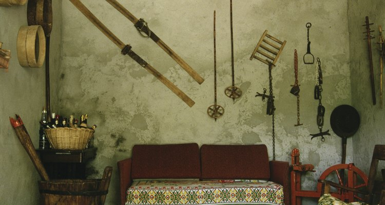 Interior of home of fur trapper