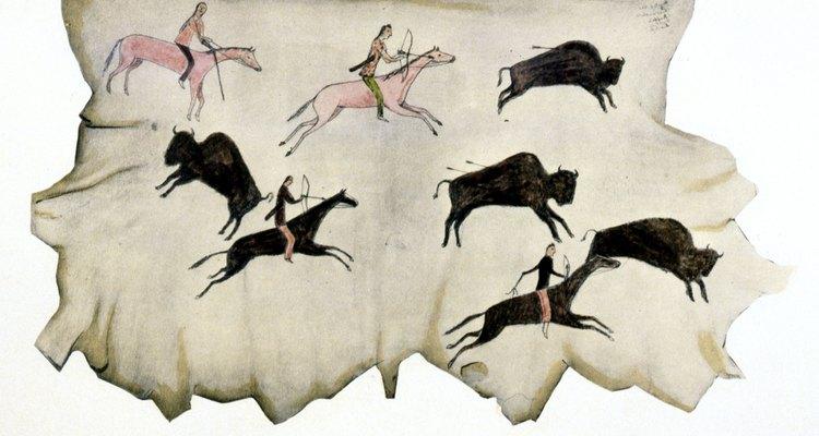 Los Comanches eran cazadores nómadas de búfalos.