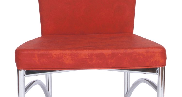 Vinyl fabric is used to make easy-care furniture.