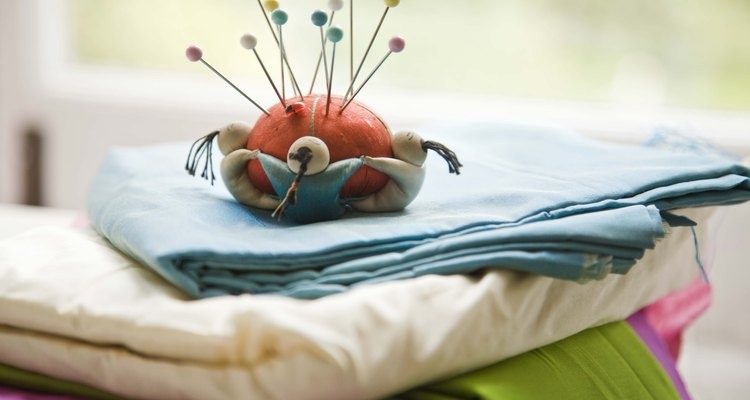 Extra pieces of fabric are ideal for making small brooches.