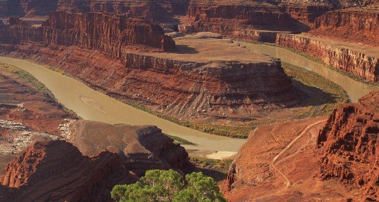 Dead Horse Point ofrece vistas del Río Colorado serpenteando entre los cañones.