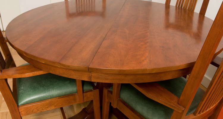 Refinish a lacquer table to restore the glossy appearance of a faded surface.