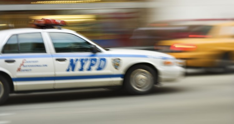Carro del escuadrón de la policía de Nueva York