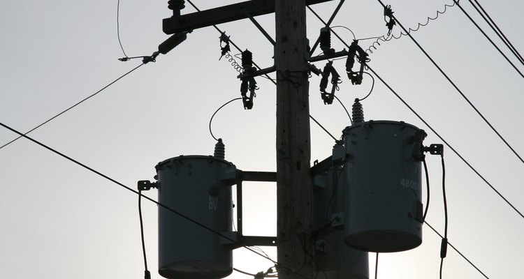 Telegraph poles are part of the electrical distribution system.