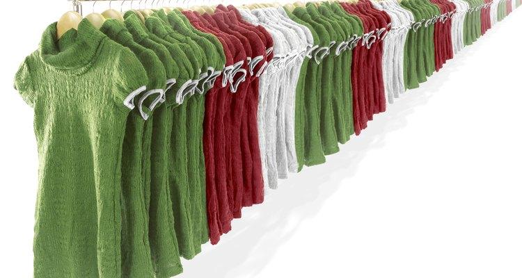 Material de algodón en prendas de vestir.