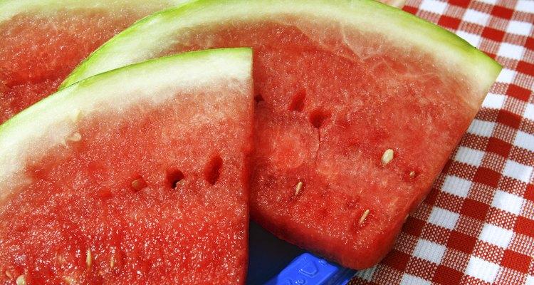 A melancia é um petisco de verão muito esperado