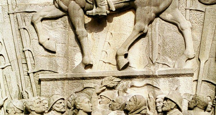 Escultura em relevo