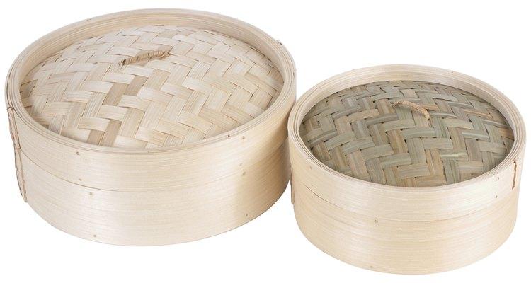Vaporeras de bambú.