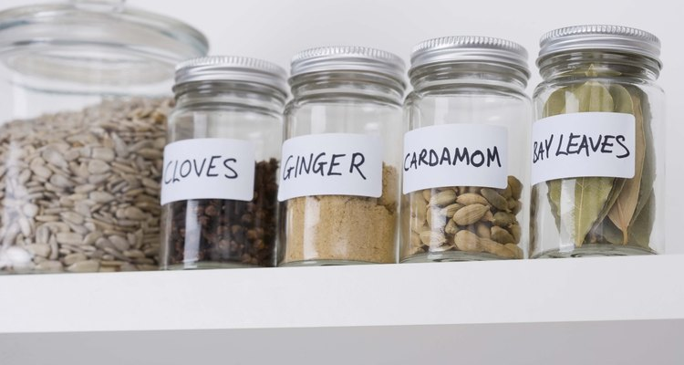 Jars can be reused to store spices.