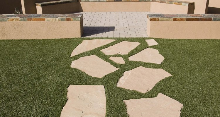 Although ageing on flagstone naturalises the stone, it can look dirty and unkempt.