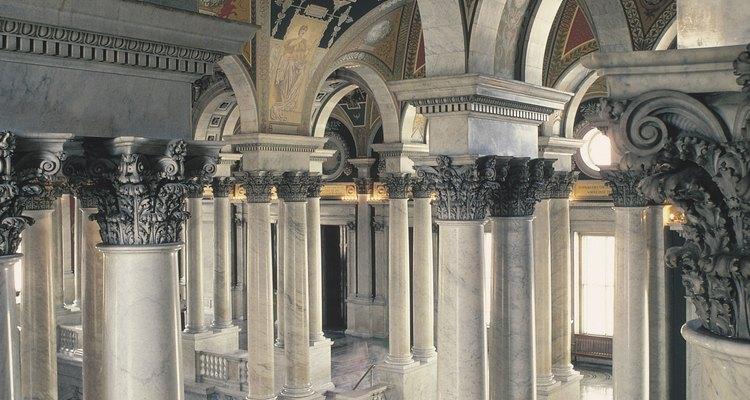 A Biblioteca do Congresso norte-americano possui elementos da arte greco-romana