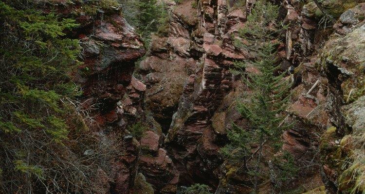 Desde el campamento Johnston Canyon se puede acceder por un sendero al cercano cañón del mismo nombre.