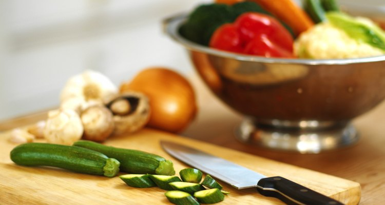 food items and ingredients on a kitchen counter