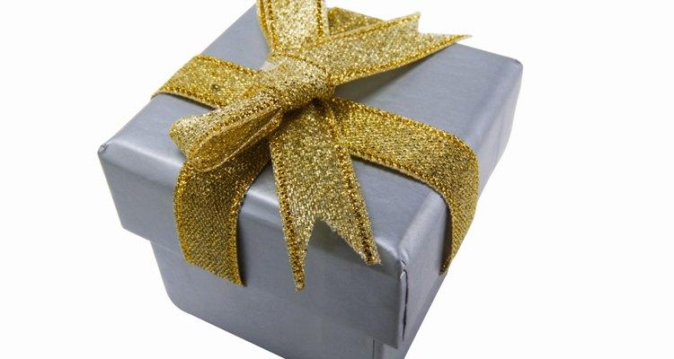Close up of a gift box