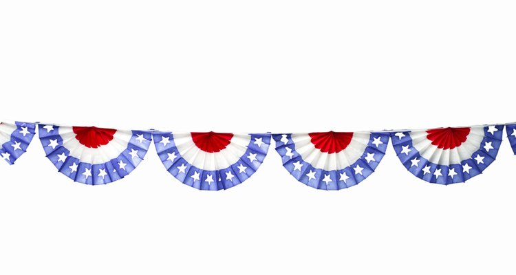 Bunting is often used for July Fourth celebrations.